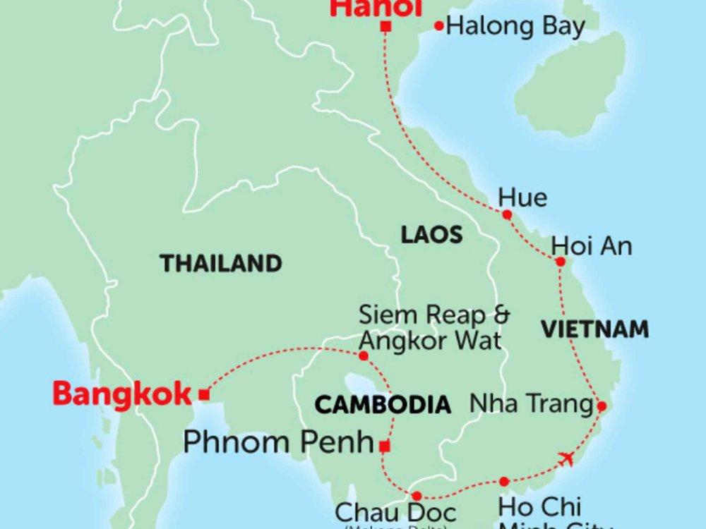 135Y10246 Vietnam Abenteuer Karte
