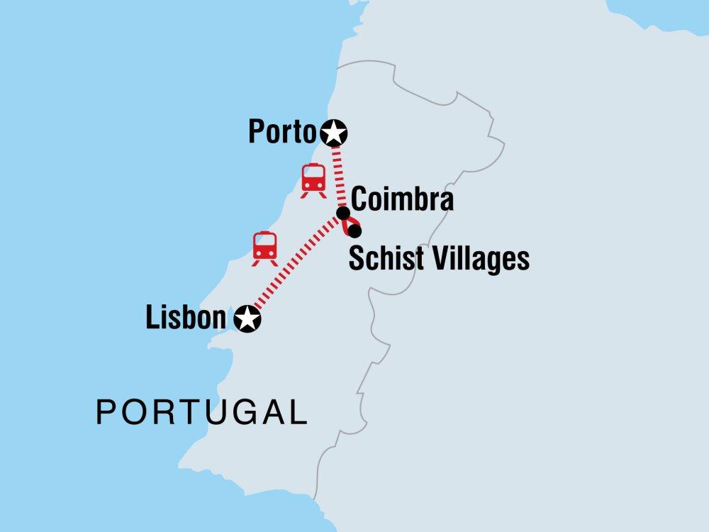 Portugal erleben Karte