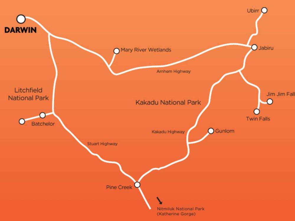 102A10064 Top End Nationalpark Erlebnis Karte