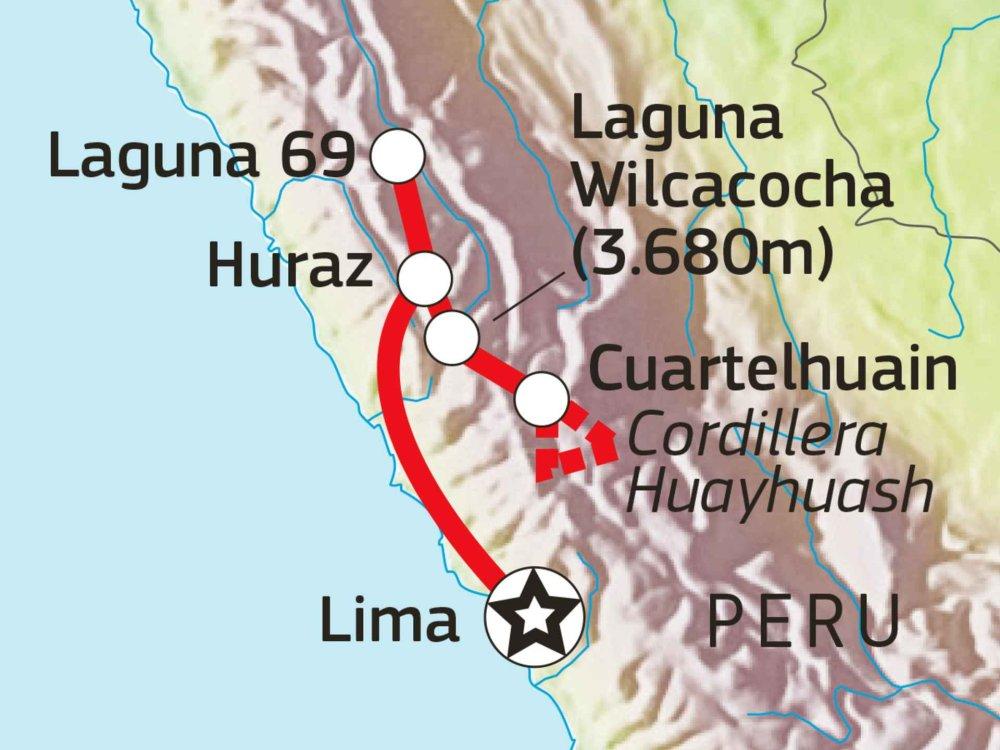 188P00014 Cordillera Huayhuash Intensiv Karte