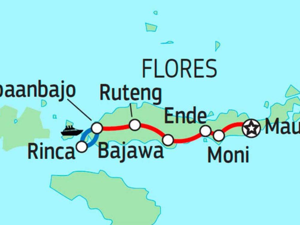 124Y21010 Abenteuer Flores & Komodo Karte