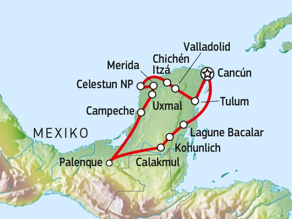 191A30040 Abenteuer Yucatan Karte