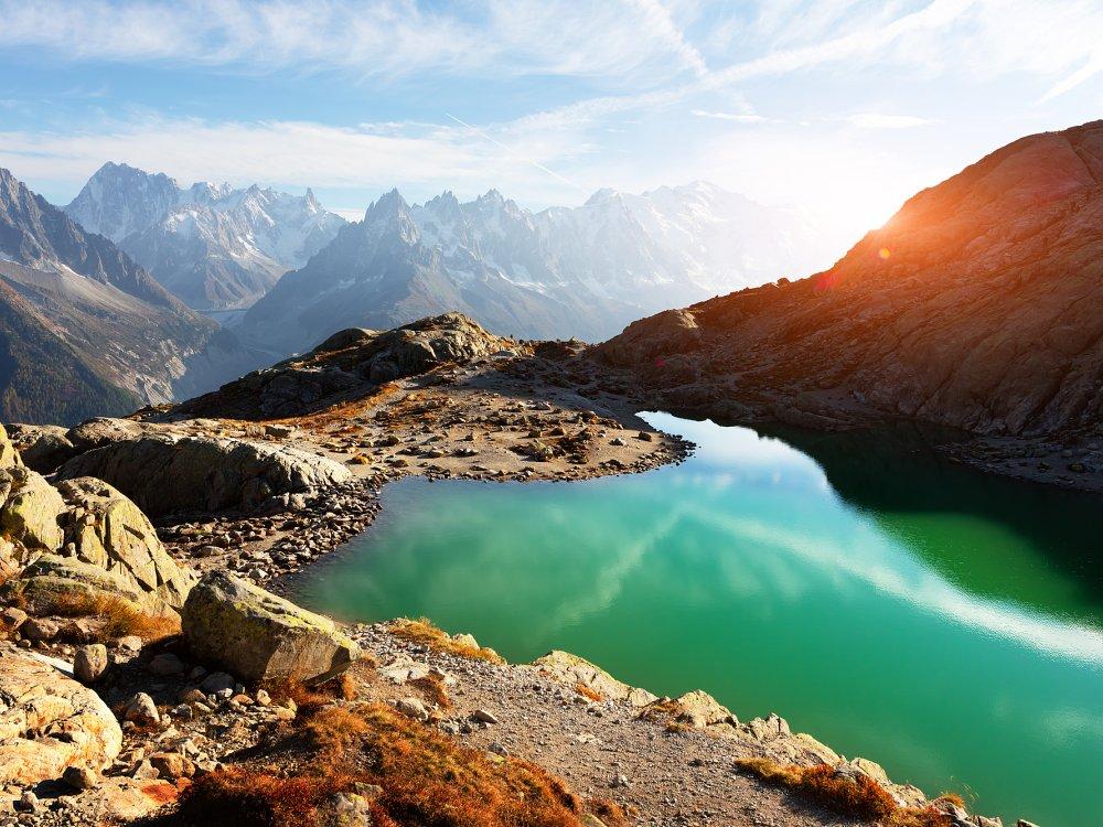 Lac Blanc an einem sonnigen Tag