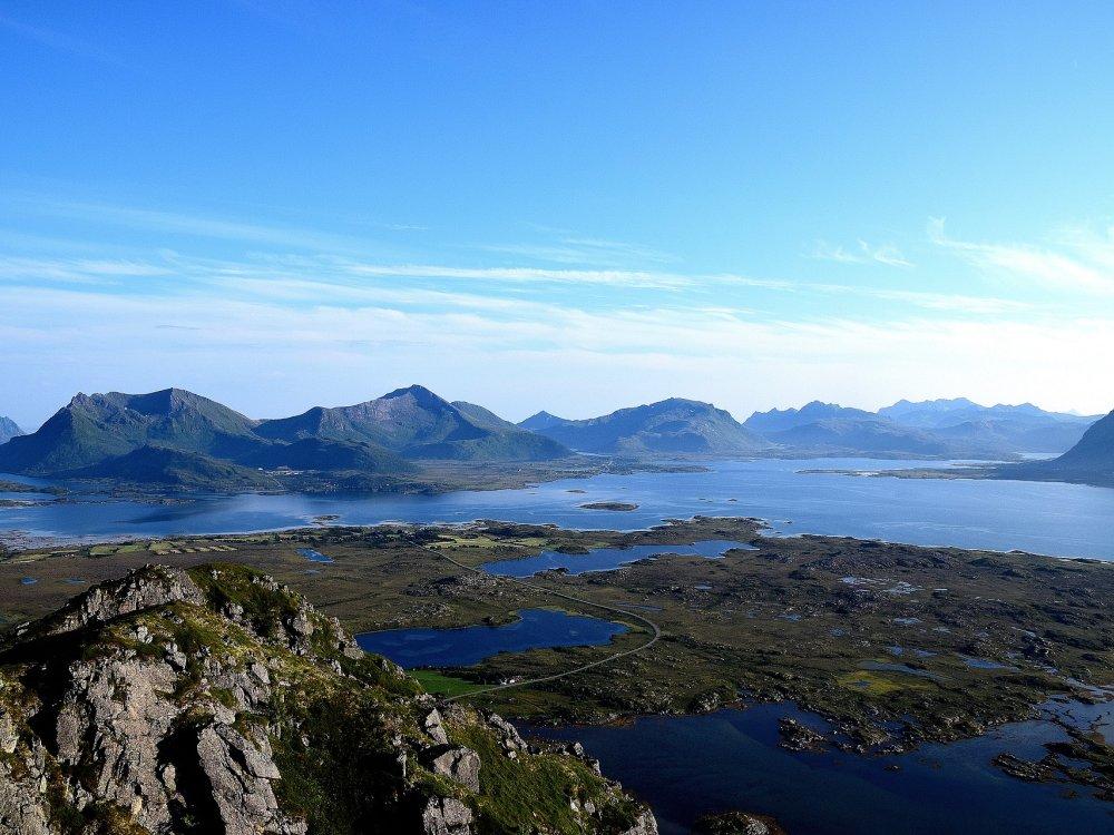 Panorama Lofoten Landschaft