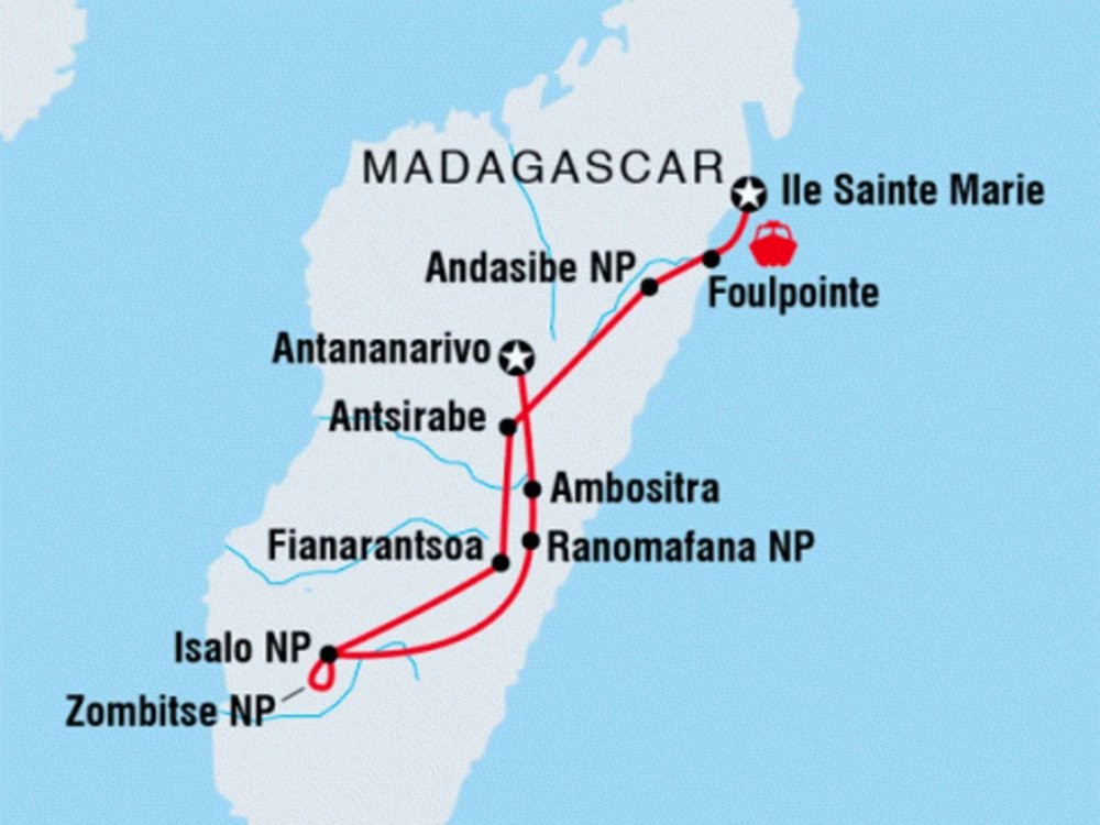 122Y21050 Naturwunder Madagaskar Karte