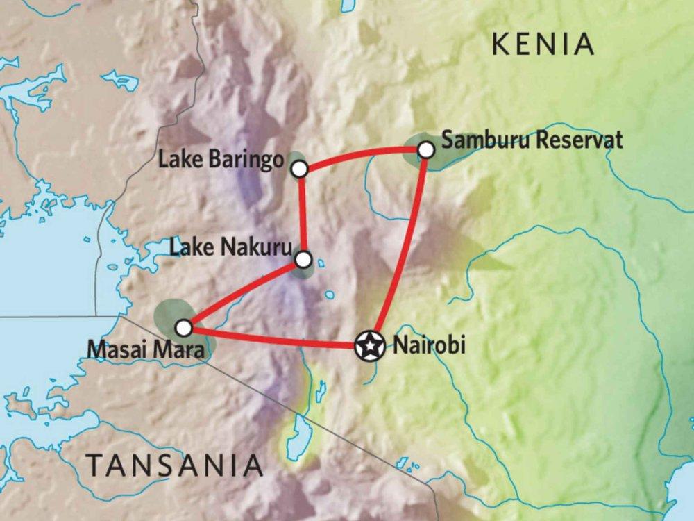 173Y10007 Kenia Camping Safari VII Karte