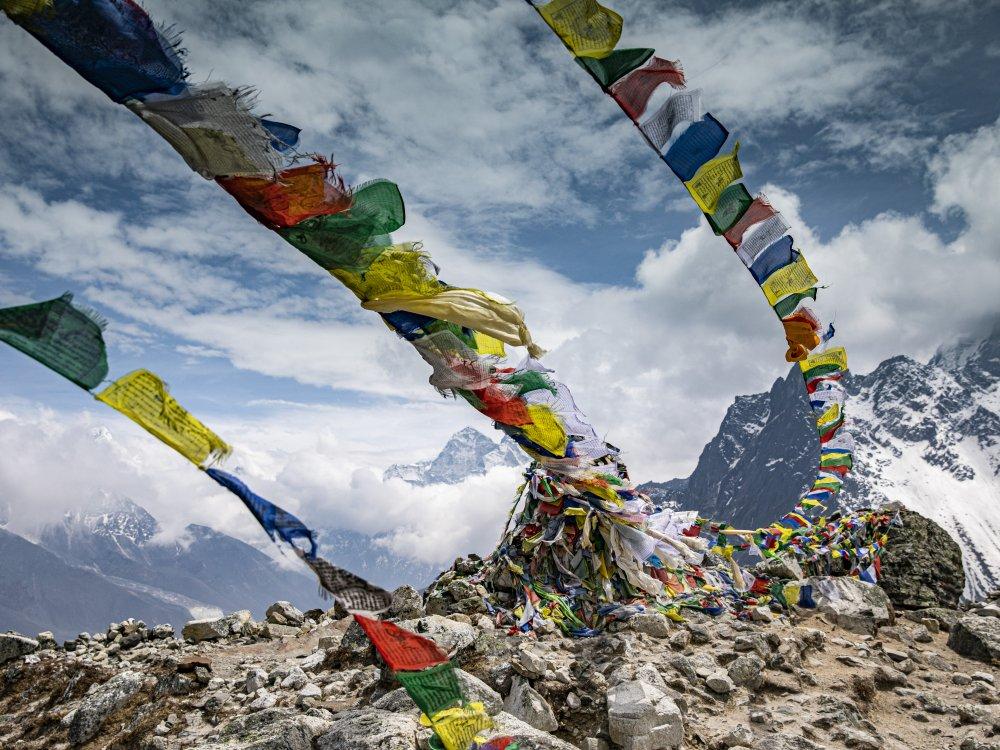 Gebetsflaggen Everest