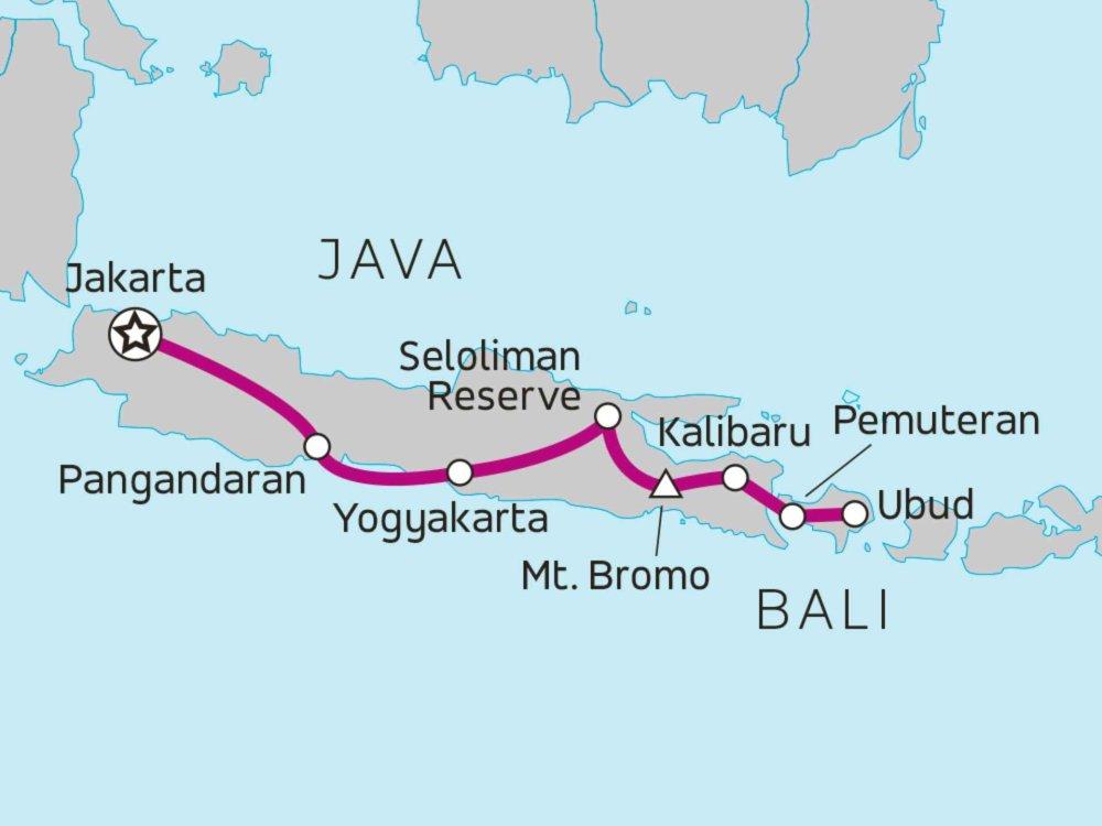 122A21019 Java & Bali Erkundung Karte