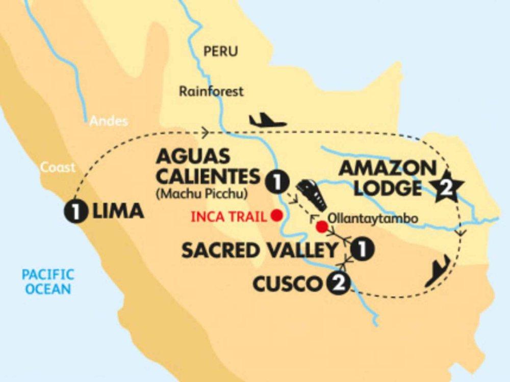 174Y20014 Peru erleben - Anden & Amazonas Karte