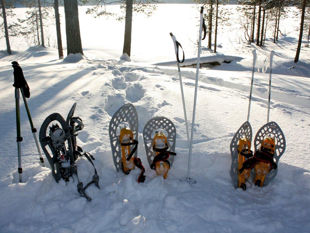 Schneeschuhtour in der Wildnis