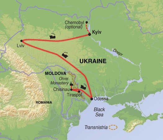 Ukraine Moldawien Karte
