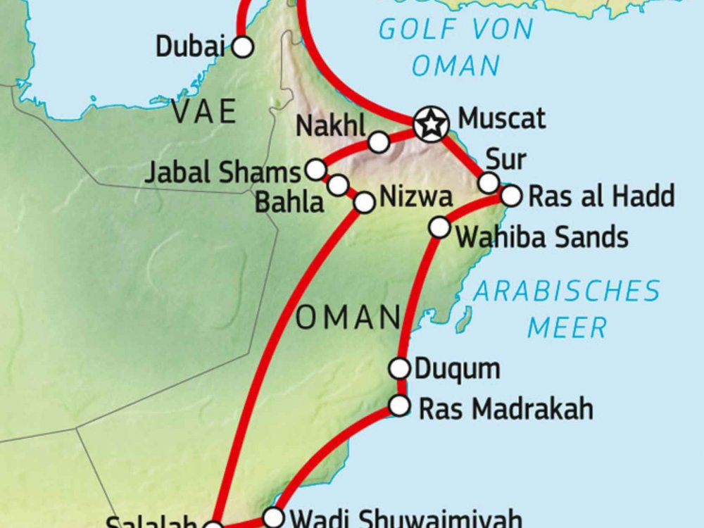 163Y10103 Oman intensiv Karte