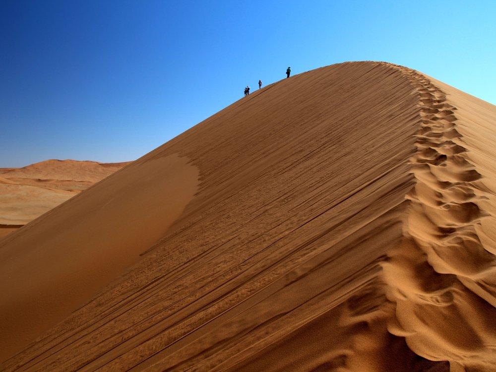 Wanderung zur Düne in Sossusvlei