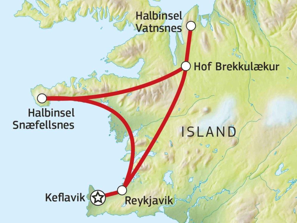 145Y21003 Islands Pferde, heiße Bäder & Naturschönheiten Karte