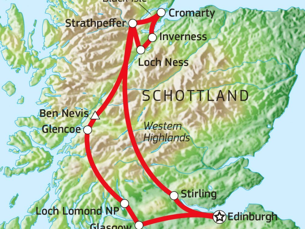 123B30015 Schottland aktiv erleben - Highlands, Whisky & Kilts Karte