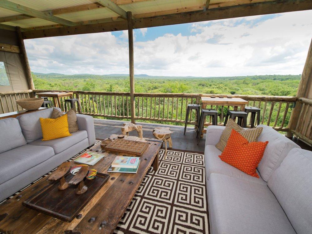 Entspannen in der Loung der Zululand Lodge