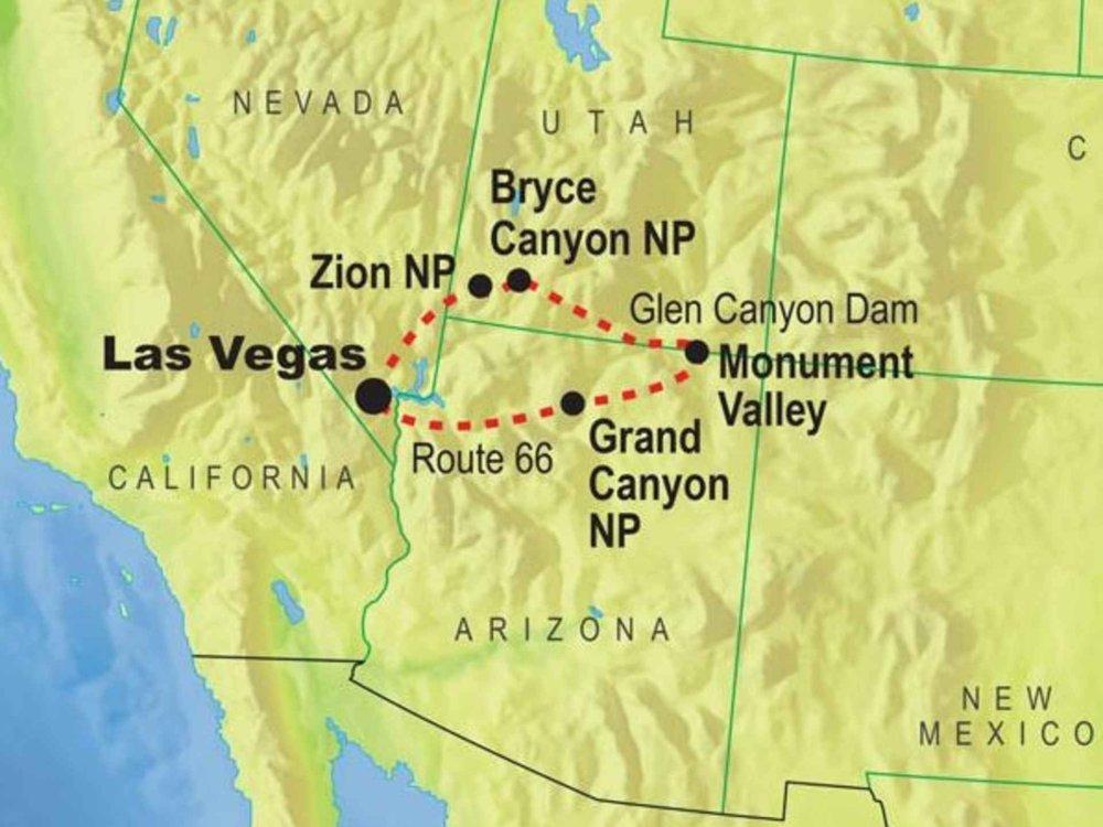 139G20016 Canyons & Indianerland Karte
