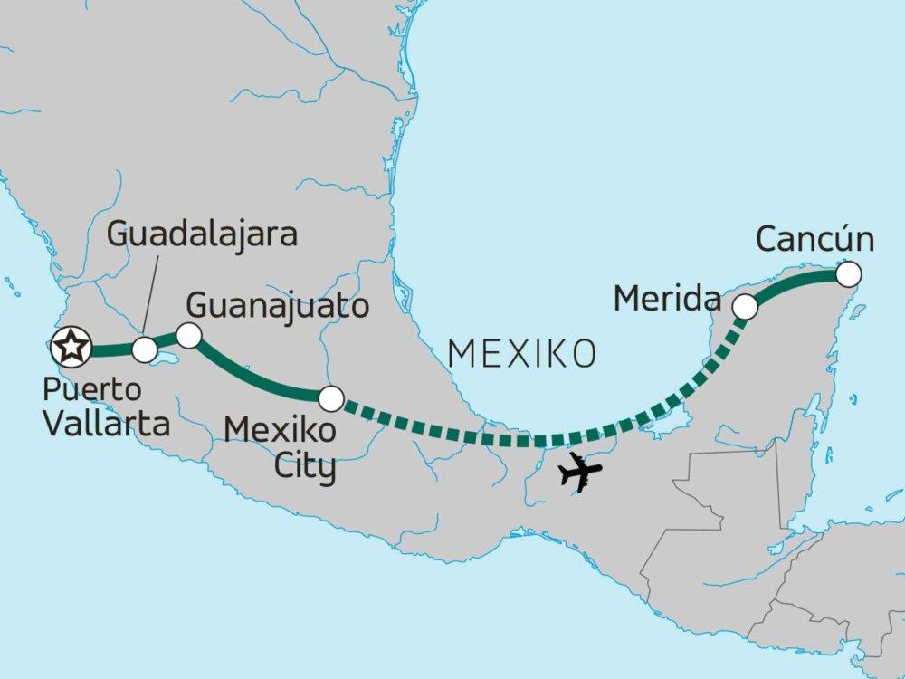174Y10100 Mexiko Grande Karte