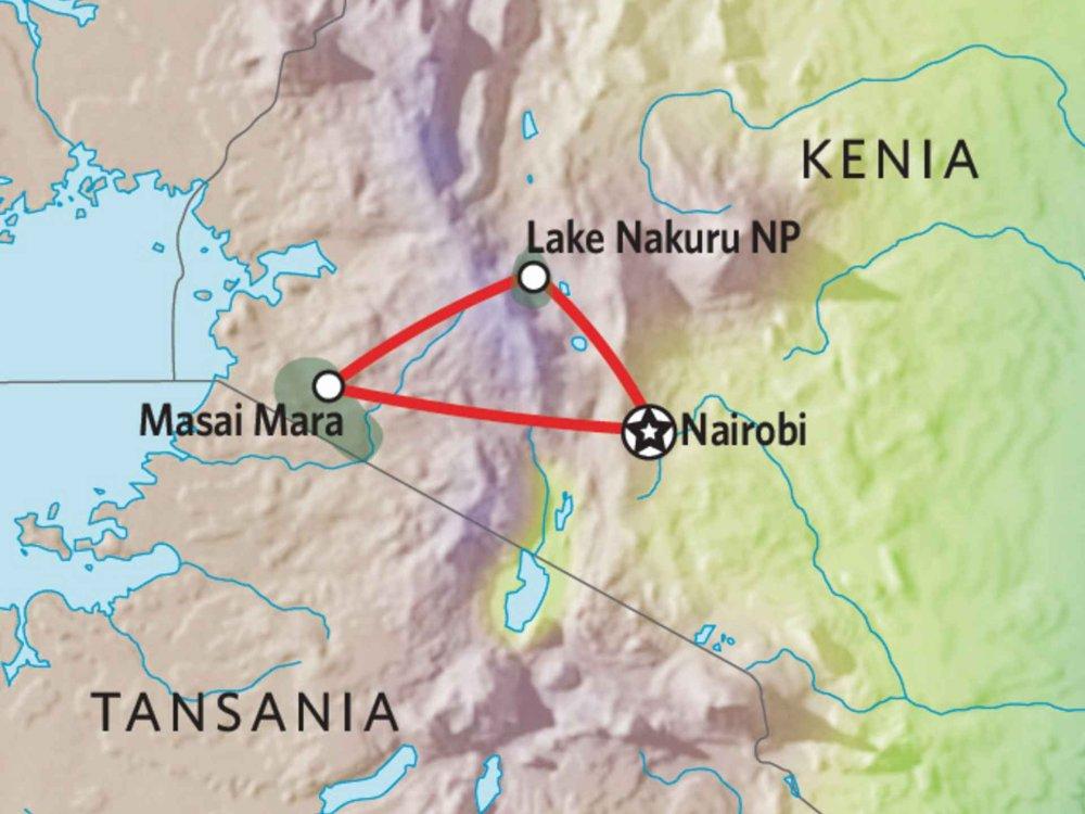 176Y10002 Kenia Lodge Safari II Karte