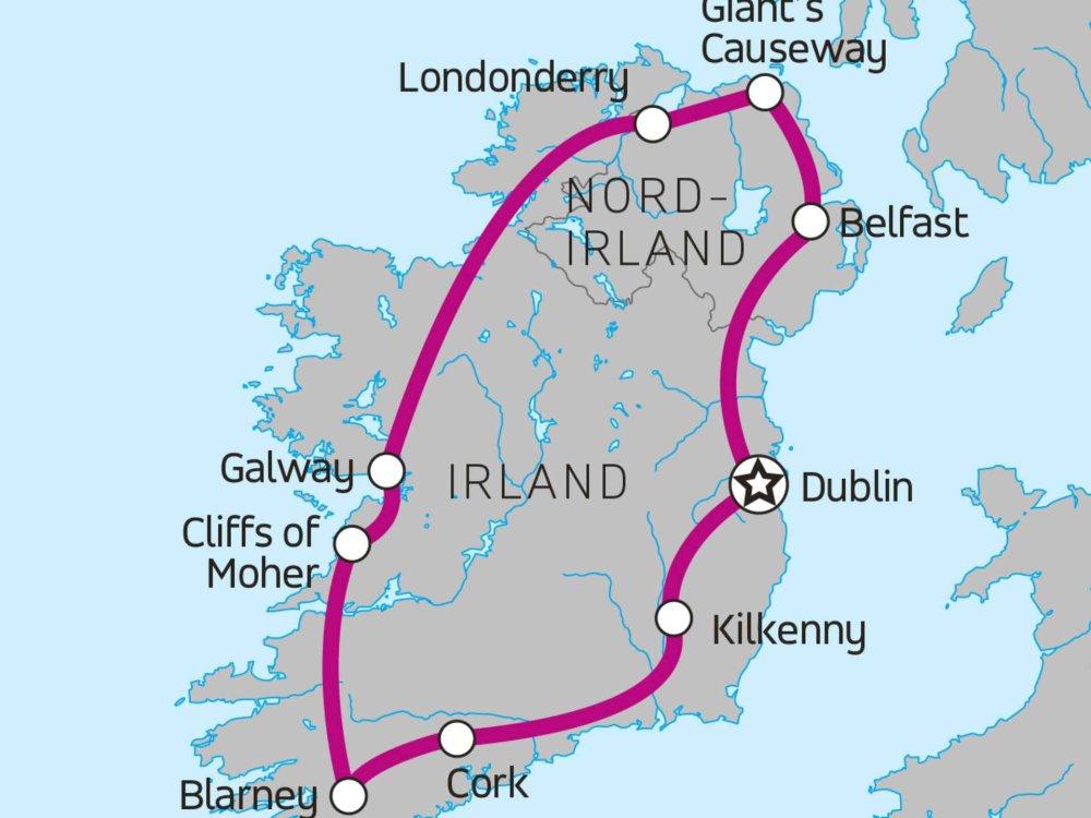 174Y20001 Entdecke Irland Karte