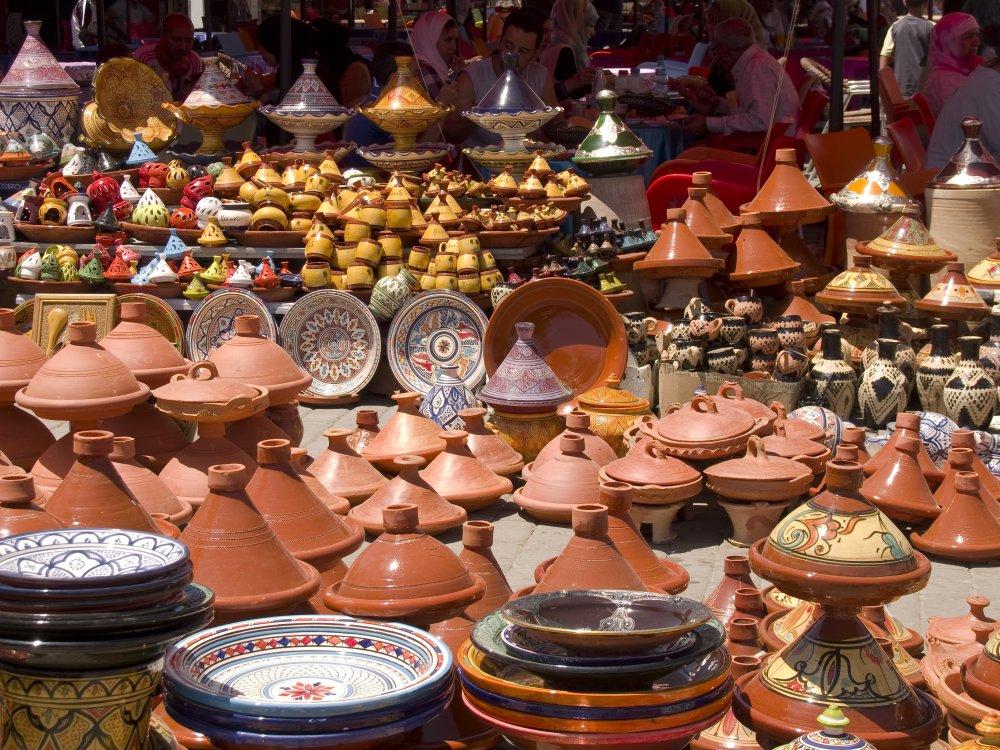 Marktstand in Marokko