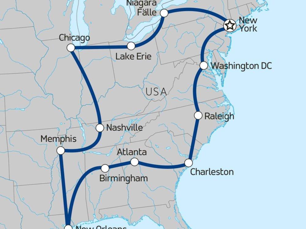 139Y10058 USA Ostküste total Karte
