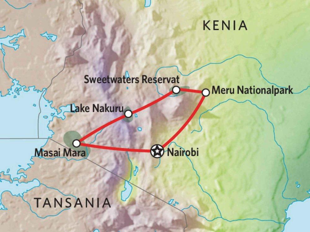 173Y10008 Naturerlebnis Kenia Karte