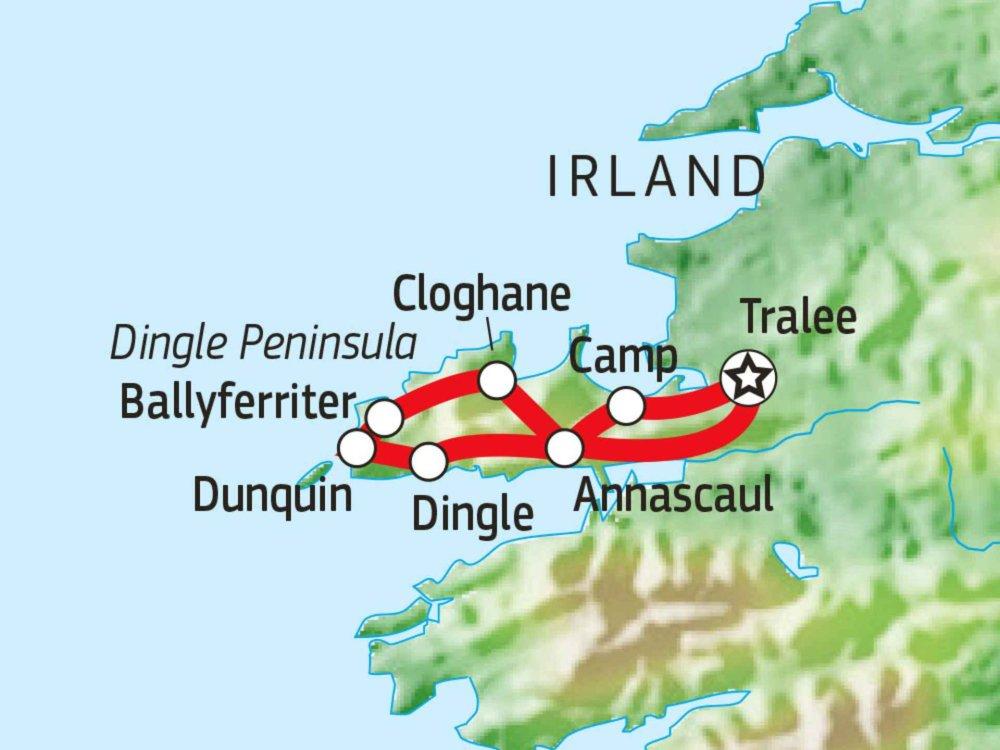 123W11052 Wandern auf dem Dingle Way Karte