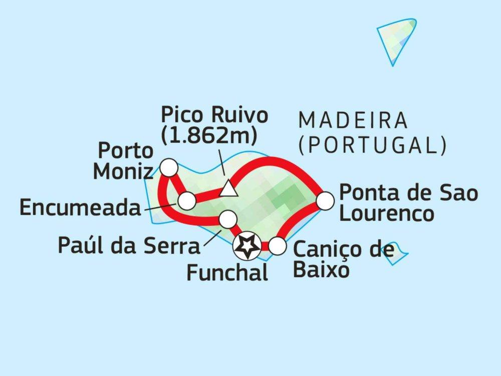 110S30400 Wanderwoche auf Madeira Karte