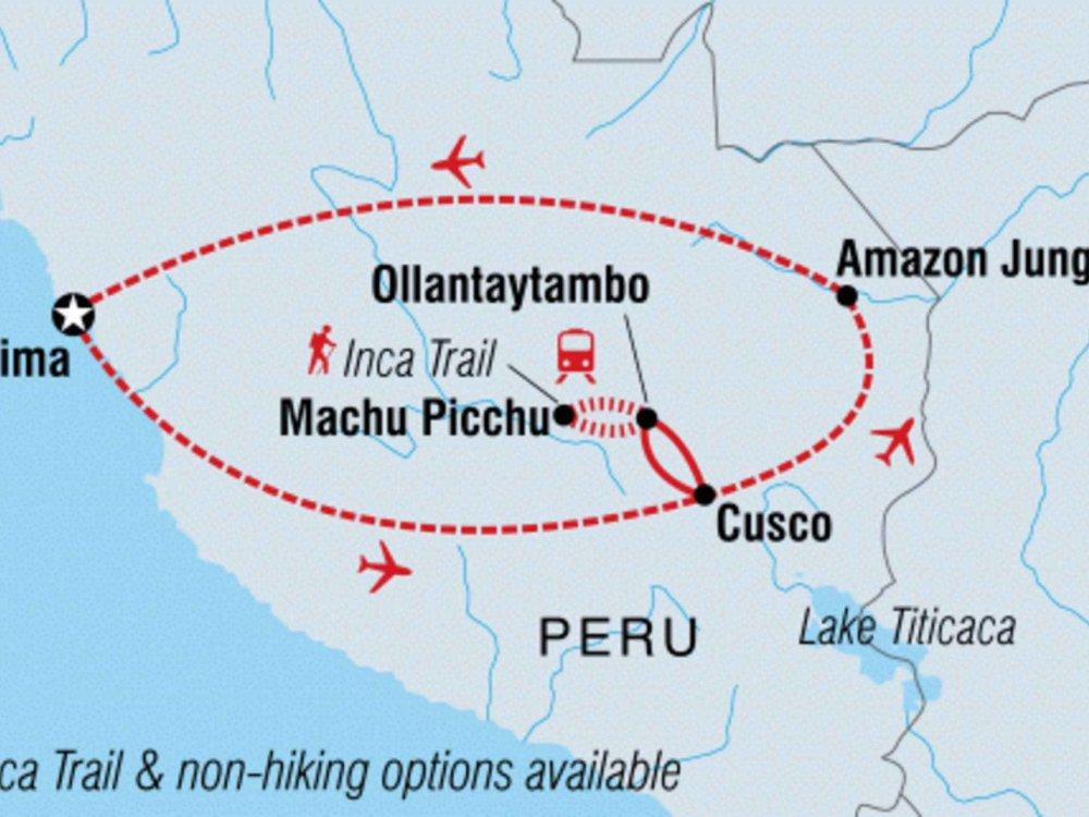 131Y21153 Abenteuer Peru - Anden und Amazonas Karte