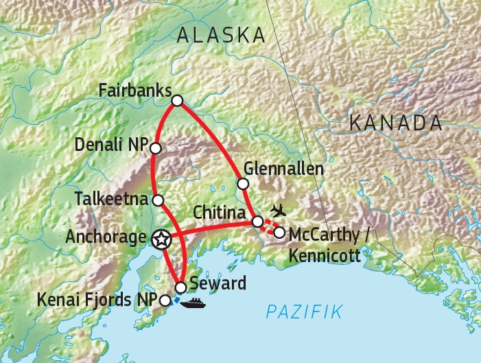187Y31016 Naturwunder Alaskas Karte