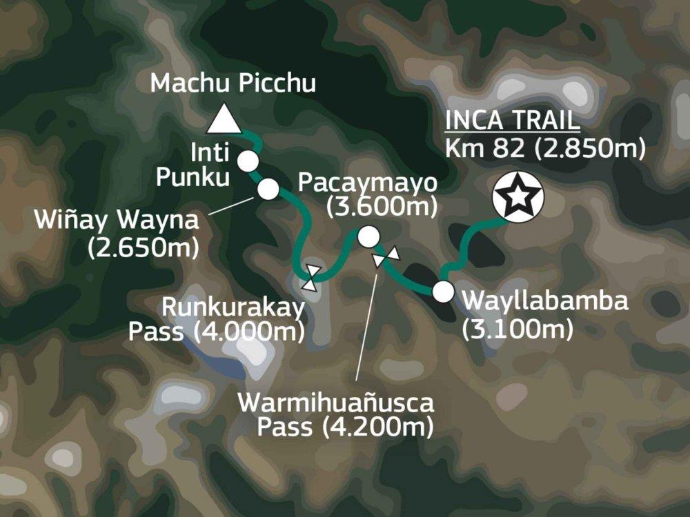 Inca Trail Karte