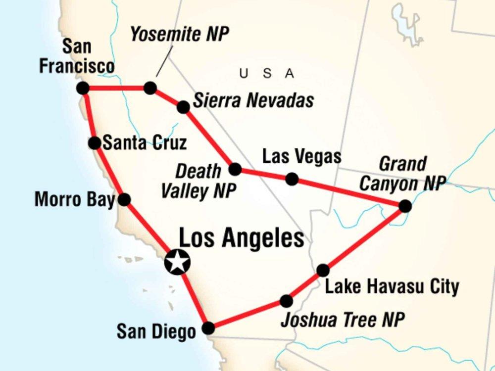130Y60003 USA Western Highlights Karte