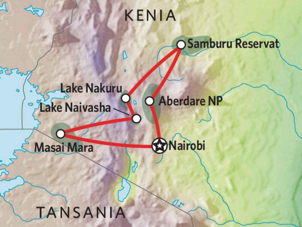 176Y10010 Kenia Lodge Safari X Karte