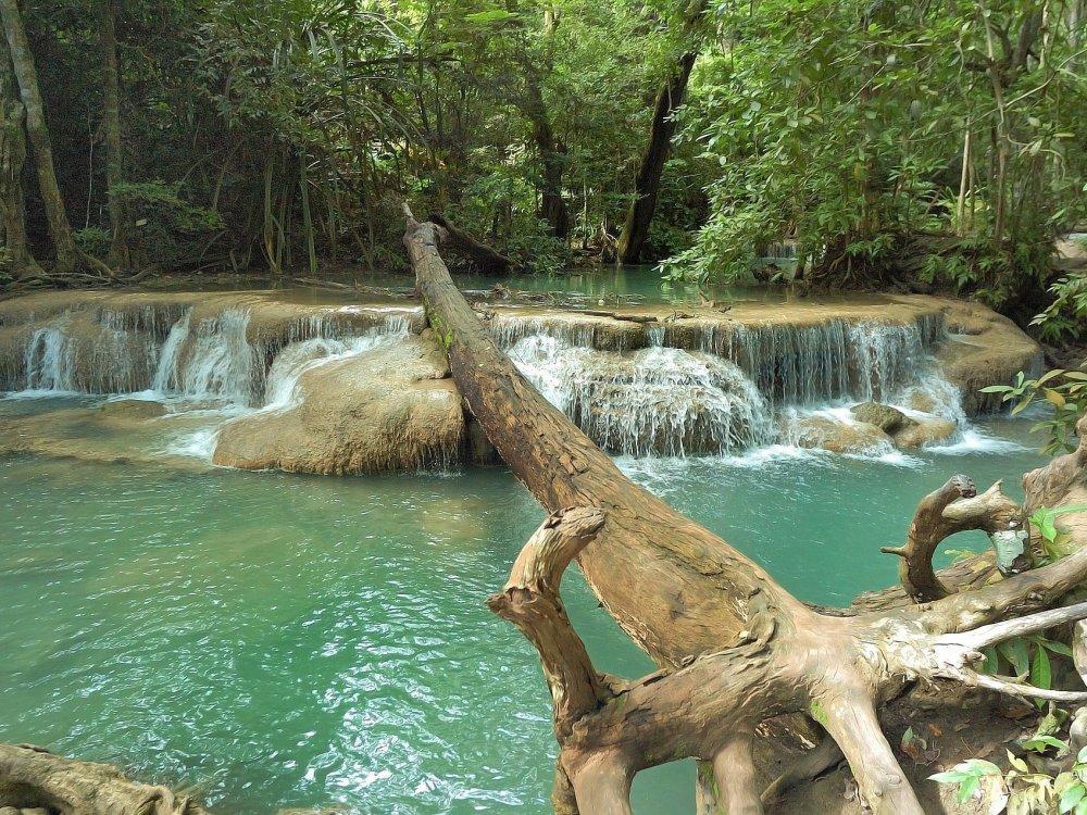 Erawan Wasserfall bei Kanchanaburi
