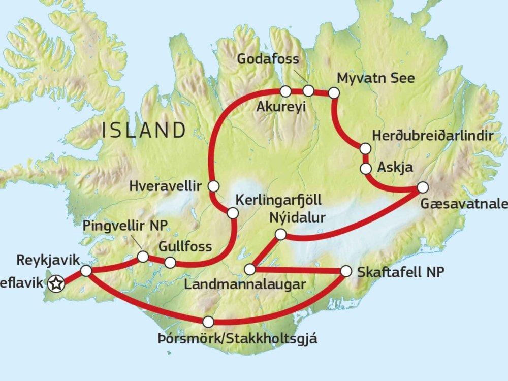 144S10002 Entdeckertour durch das Hochland Karte