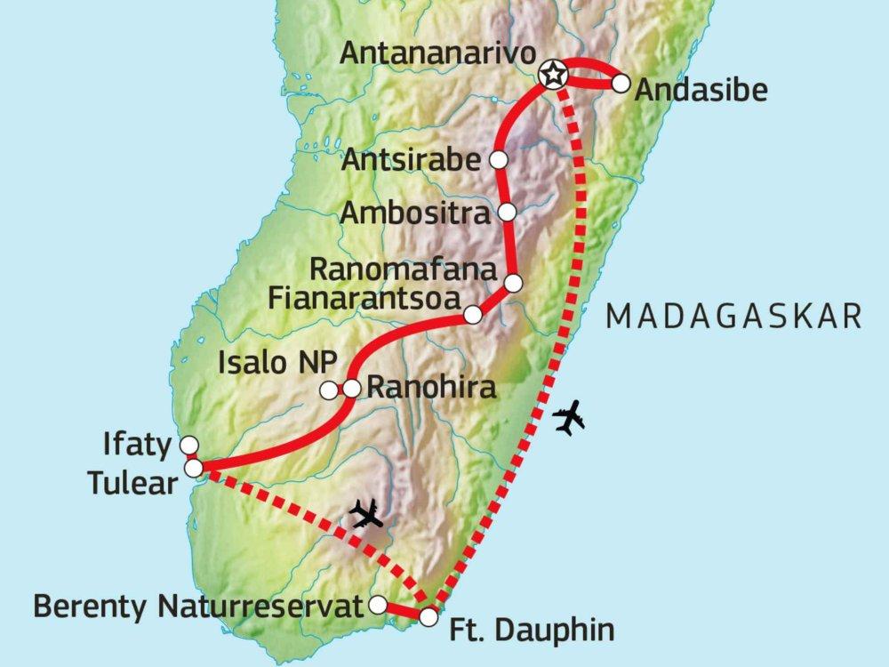 119Y82007 Madagaskars Süden Karte
