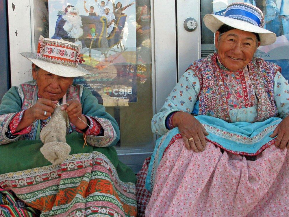 Einheimische Frauen in Peru