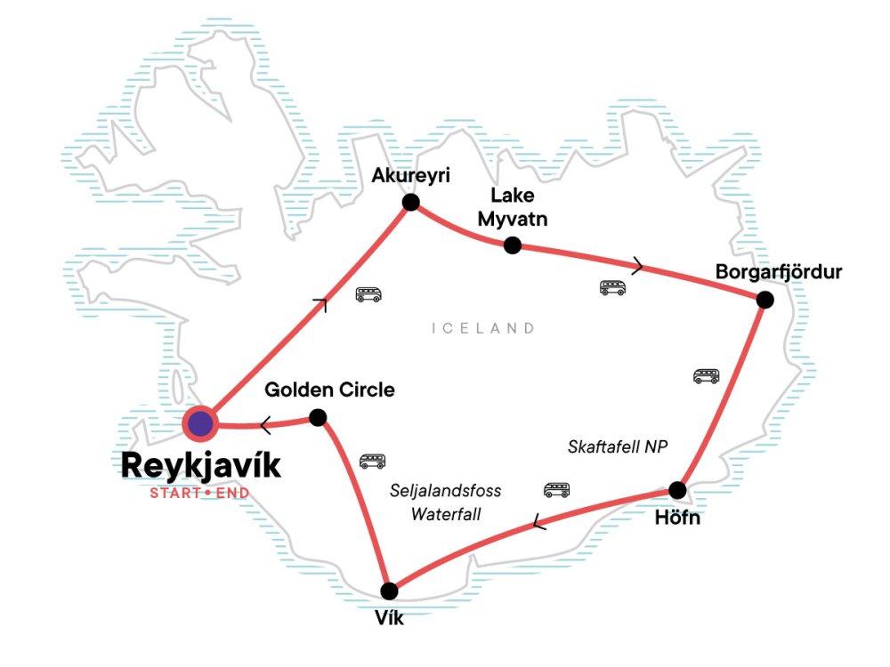 Erlebnis Island Karte
