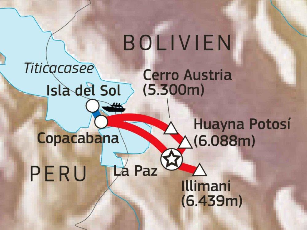188B00001 Bolivien Trekking Absolut Karte