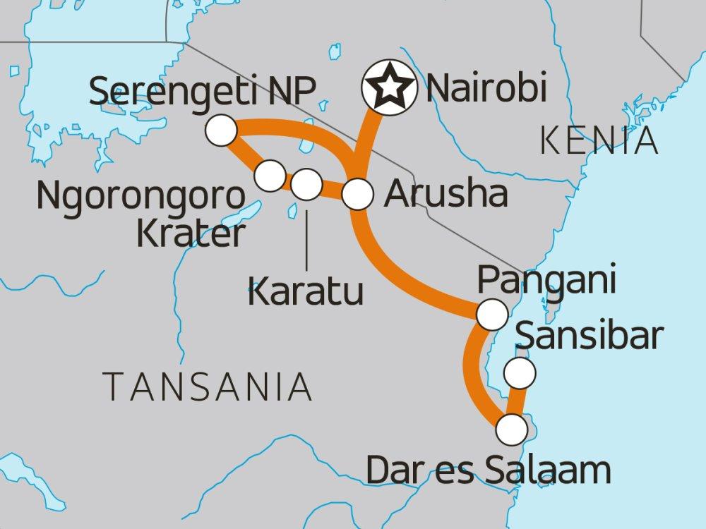 Tansanias Wildreservate & Sansibar