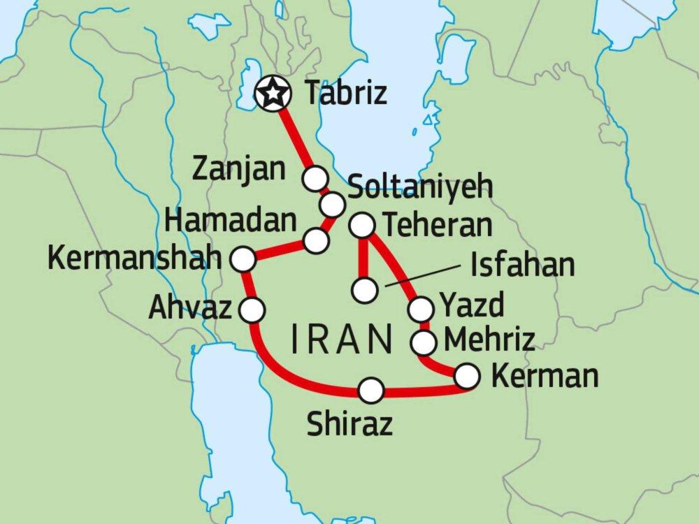 116Y25000 Iran Erlebnisreise Karte