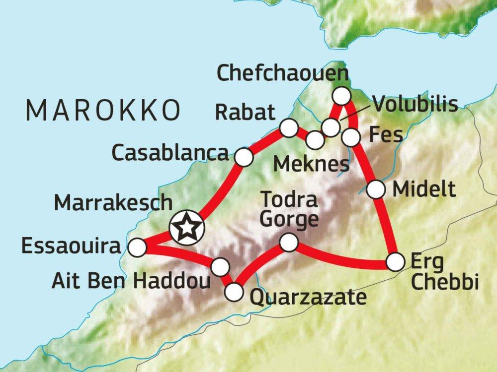 Marokko Abenteuer Karte
