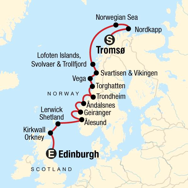 130Y50038 Norwegens Fjorde und Polarbären Karte