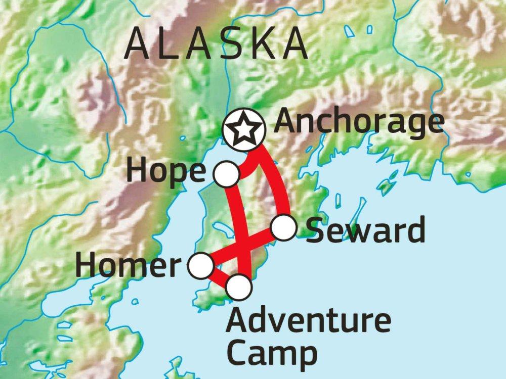 187C11003 Outdoor-Erlebnis Alaska Karte