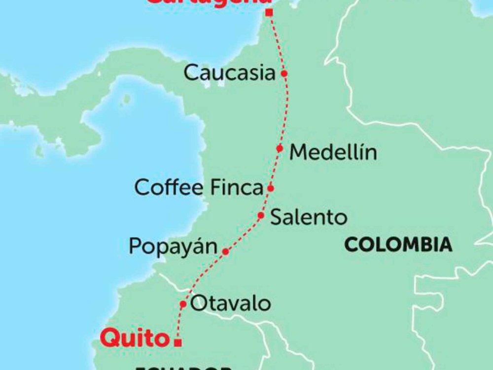 135Y10235 Von Kolumbien nach Ecuador Karte