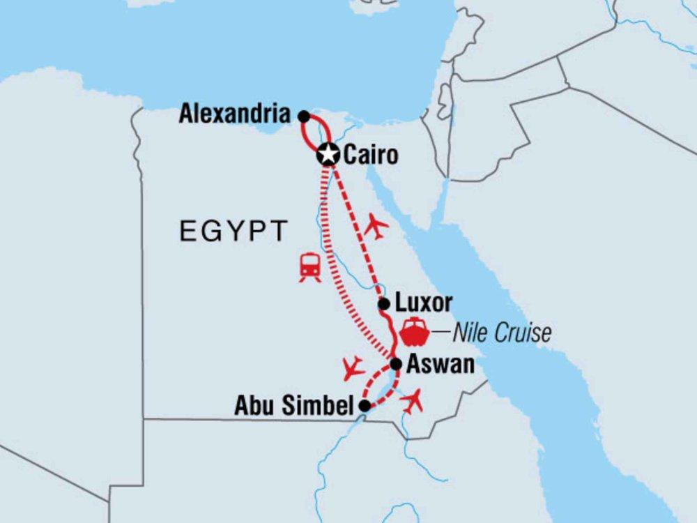 122Y60078 Sagenhaftes Ägypten mit Nilkreuzfahrt Karte