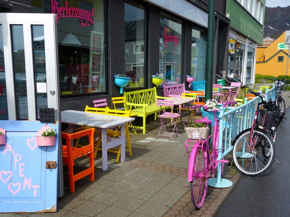 Cafe Pause bei der Radtour auf den Lofoten