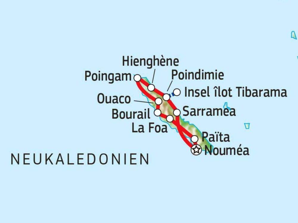 101C22100 Le Caillou - Mietwagenabenteuer durch Neukaledonien Karte