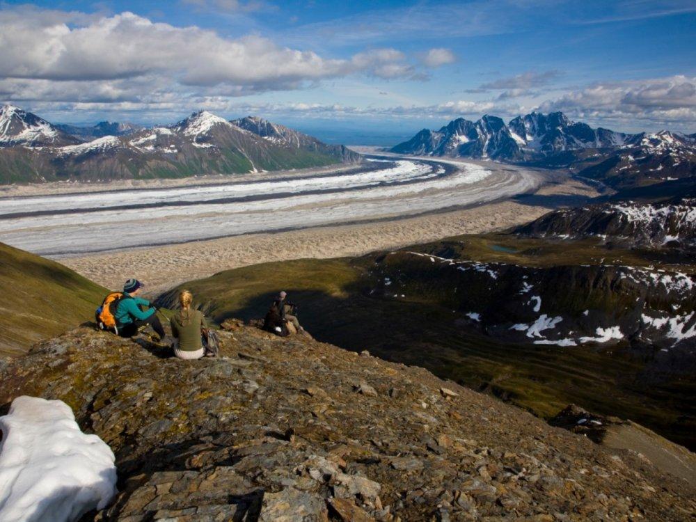 Wanderer Gletscher Alaska